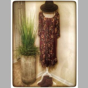 🌺Last2! One World Smocked Ruffle Peasant Dress 1X
